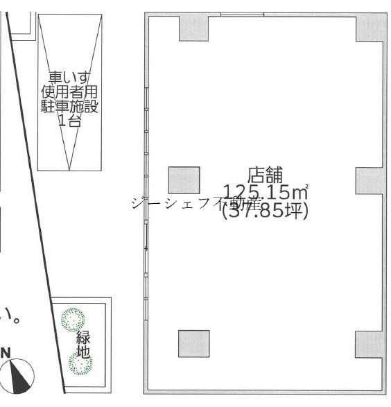 プライムメゾン大塚1F店舗配置図
