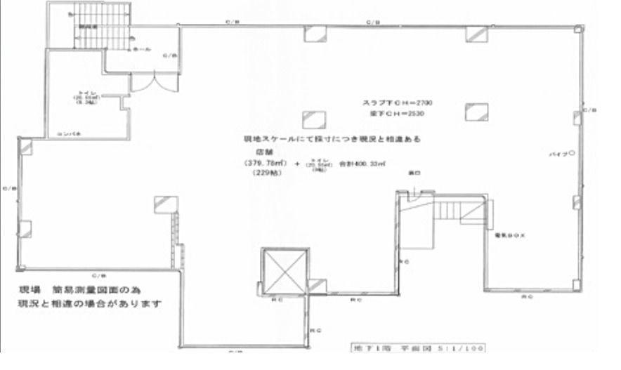 ペガサスステーションプラザ蒲田募集区画平面図
