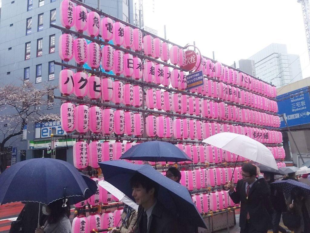 渋谷桜丘桜まつりの提灯